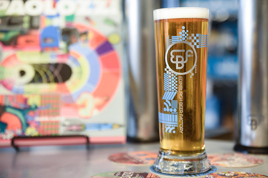 Paolozzi Lager at the Edinburgh Beer Factory