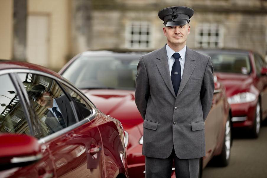 One of our fully uniformed chauffeurs welcoming delegates for their evening social programme.