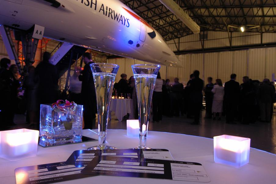 The Concorde hangar at the National Museum of Flight can hold up to 500 guests
