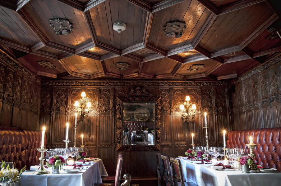Dramatic and historic dining rooms.