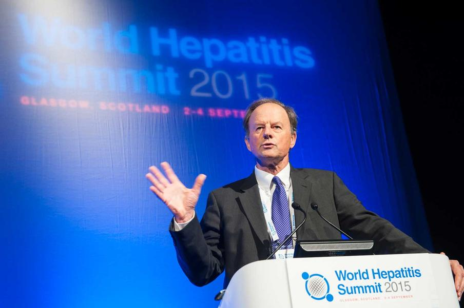 Conference photography of Speaker at World Hepatitis Summit