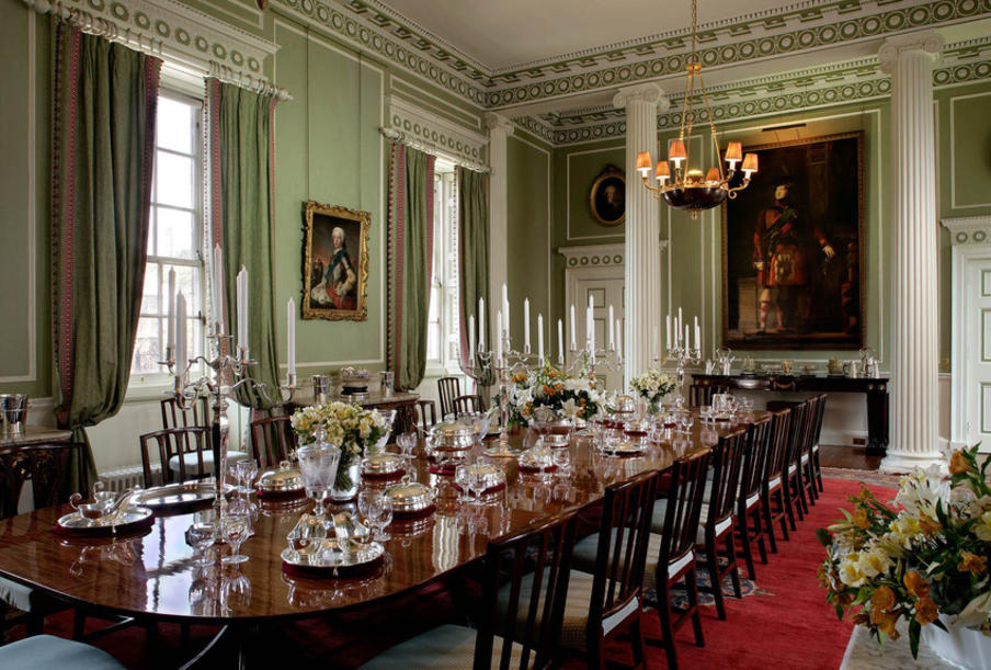 The Royal Dining Room in the State Apartments at the Palace of Holyroodhouse