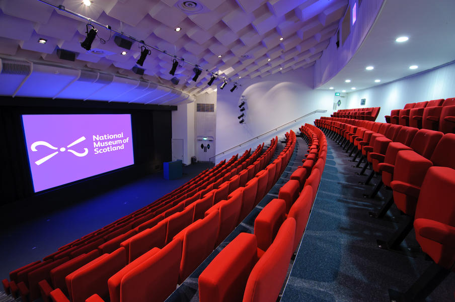 The Auditorium at the National Museum of Scotland can seat up to 210 guests.