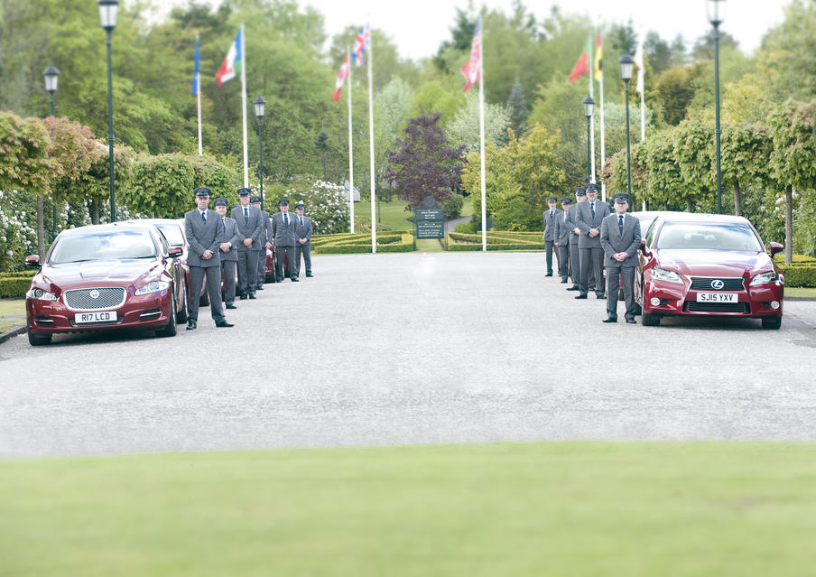 Little's team of chauffeurs providing airport transfers and conference delegate transport for an event taking place at Gleneagles Hotel.