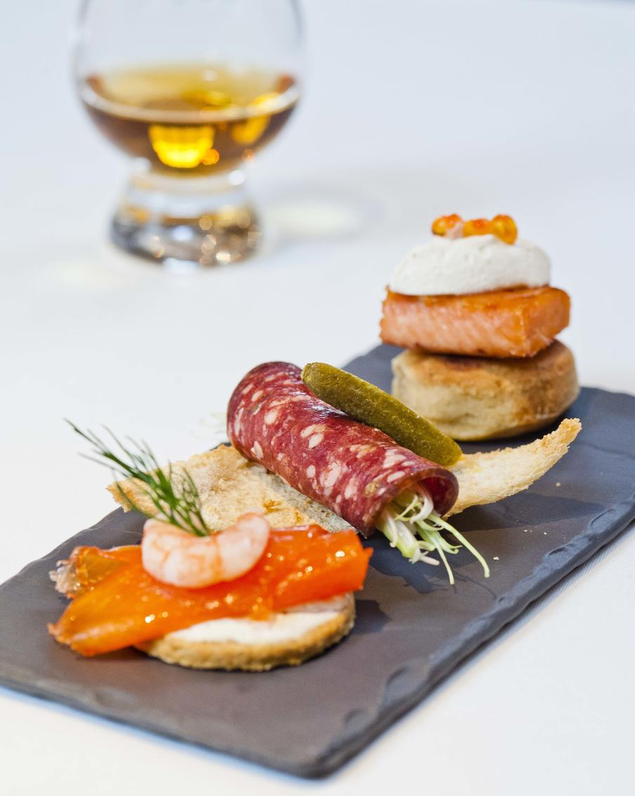 Food and whisky matching at The Scotch Whisky Experience