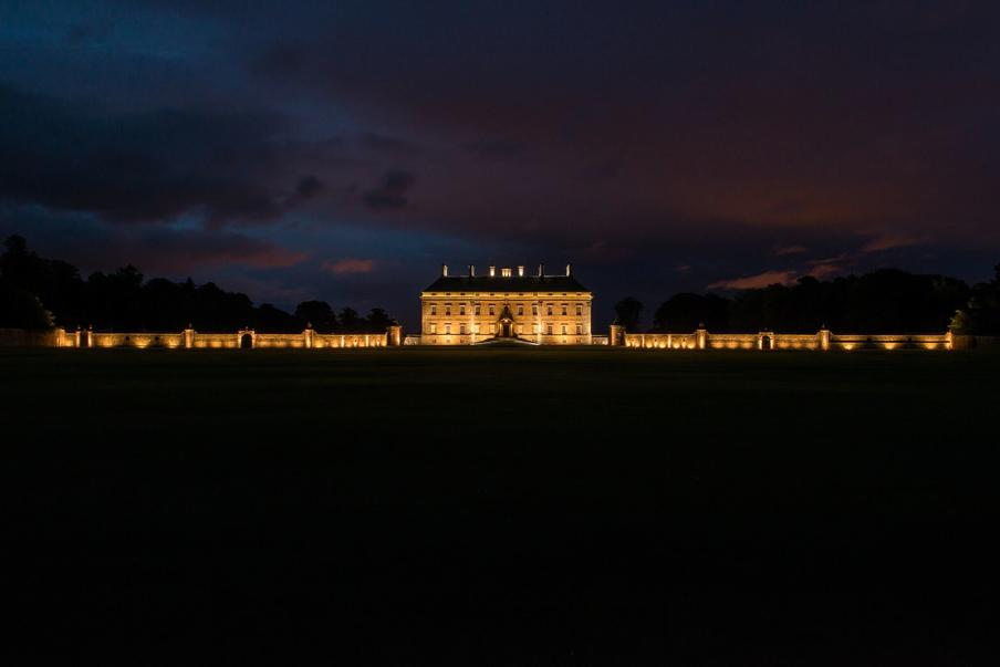 Kinross House Lit Up at Night