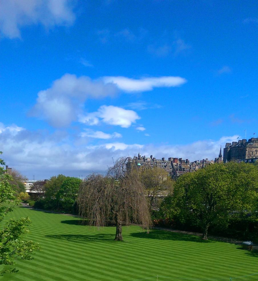 View of Princes Street Gardens from The Scottish Cafe & Restaurant
