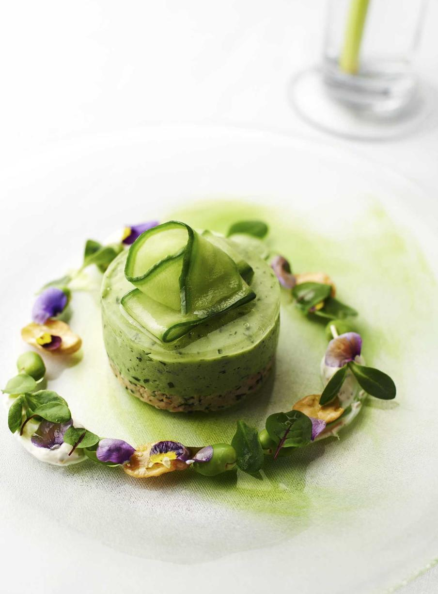 Clerkenwell Green cucumber mousse