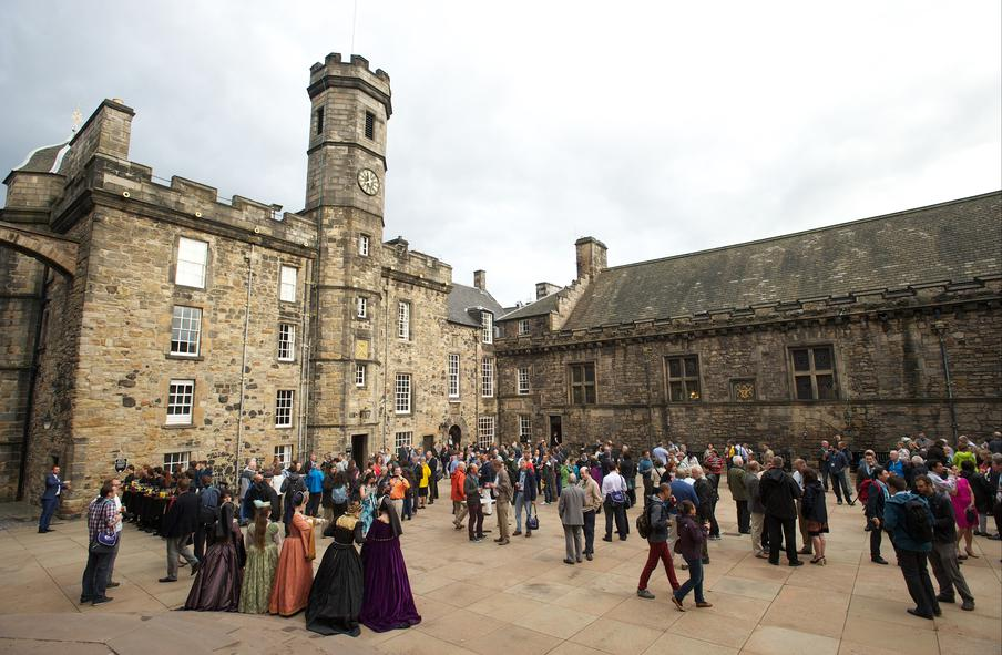 Edinburgh Castle, Crown Square, Drinks Reception, 250 to 800 People, Exclusive Access, Drinks, Canapes, Ampitheatre for Speeches,