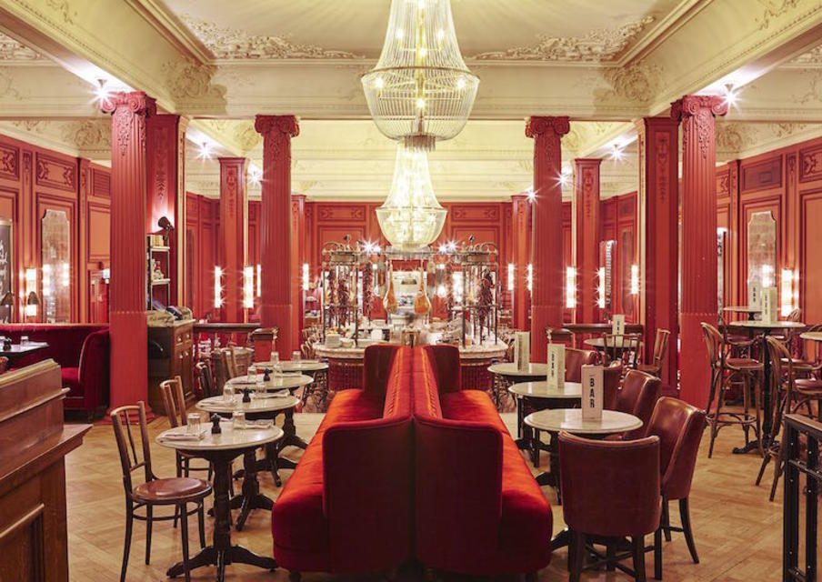 The grand ceilings, impressive cornicing and scarlet walls, teamed with red velvet chairs and chandeliers, make it an amazing spot for a special night out.