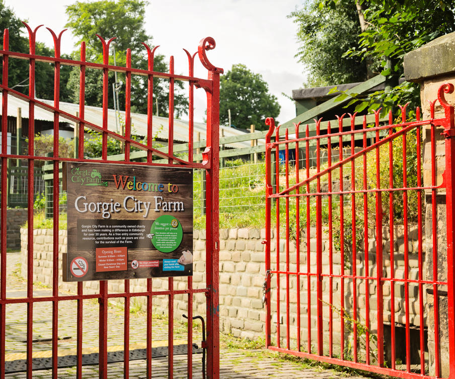 Gorgie City Farm Gates
