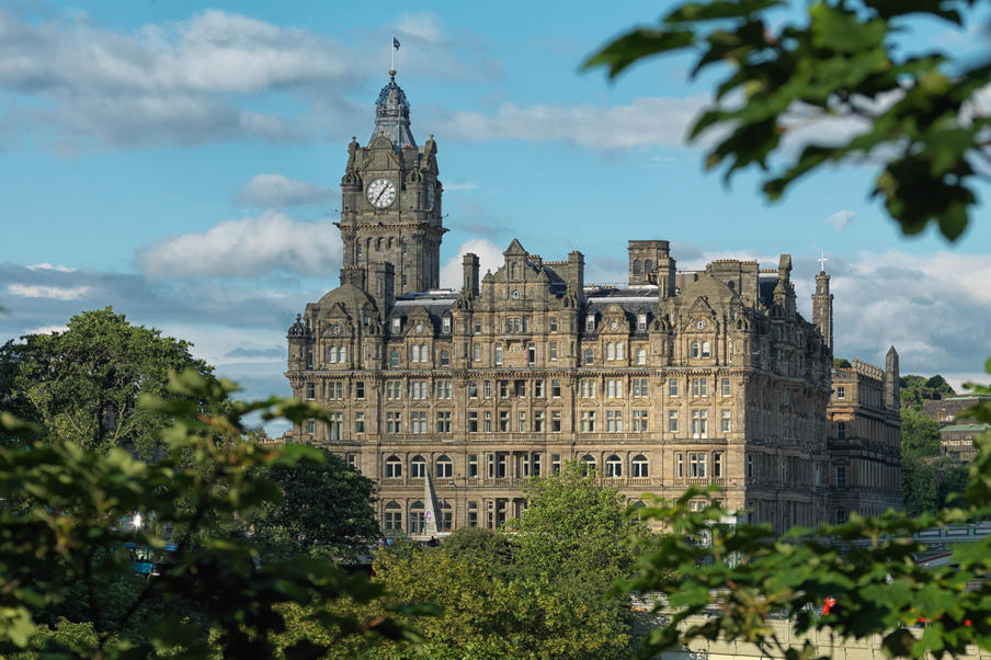 The Balmoral - From Princes Street Gardens