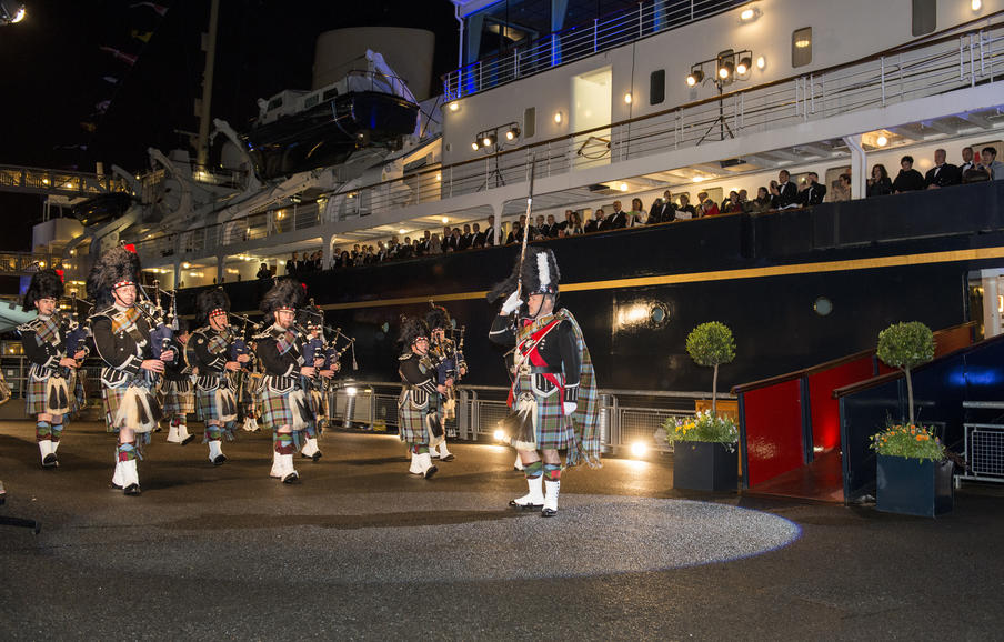 Spectra Gala dinner at the Royal Yacht Britannia with a pipe band.