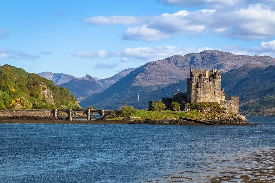 The magical Eilean Donan Castle in the Scottish Highlands