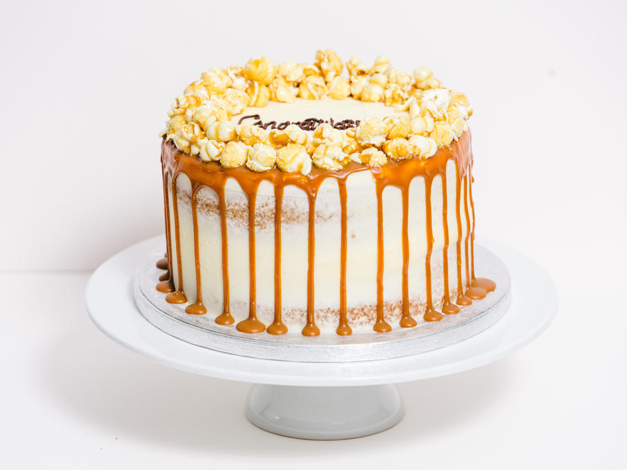 Toffee Popcorn Celebration Cake