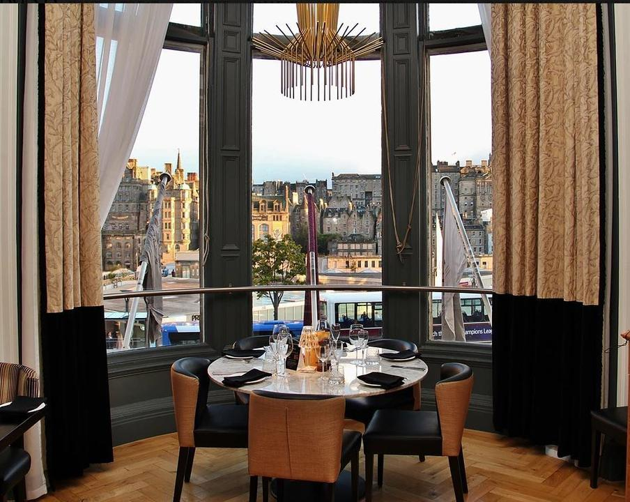 Dining with views of the city skyline