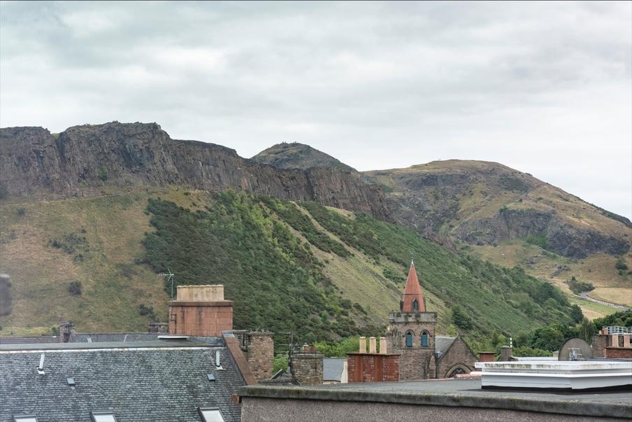 Stunning views of Arthur's Seat from the Hotel.