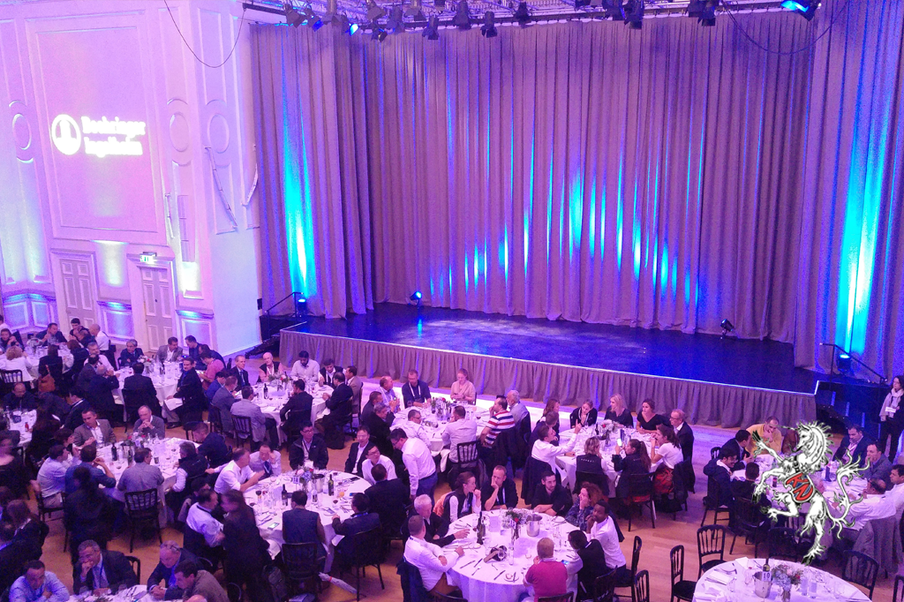 A dinner-cabaret show in central Edinburgh for over 300 people from a global pharmaceutical company. After a drinks reception, a gourmet dinner followed with a spectacular light show and Scottish entertainment.