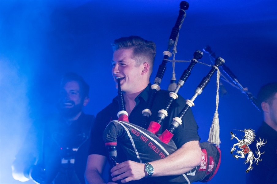 The guests went wild when the Red Hot Chilli Pipers blasted out onto the stage as the finale of their Gala Dinner!