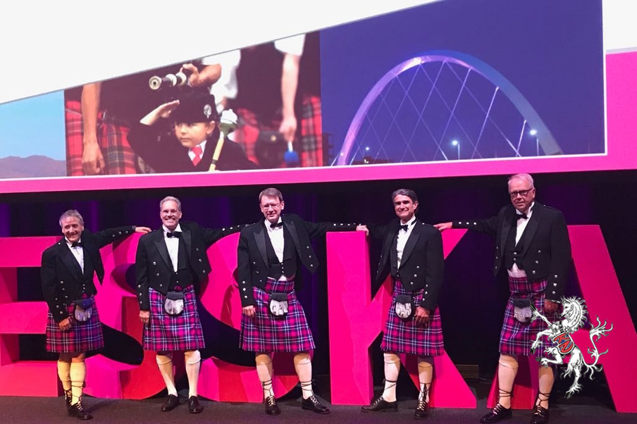 K&N created bespoke gifts for the 80 congress VIPs (including a congress tartan which was made into numerous luxury items). It was great to see the VIPs proudly showing off their specially designed tartan kilts at their Gala Dinner.